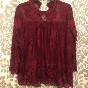 New York and Company Lace Blouse